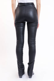 Leather Side Slit Pant