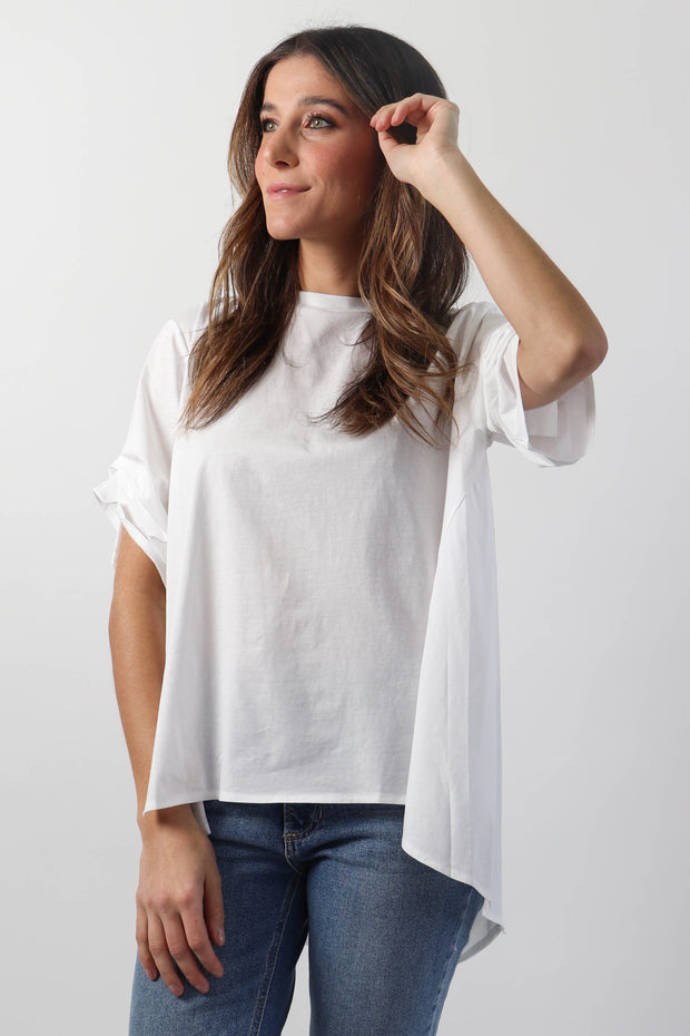 White Panelled Tee