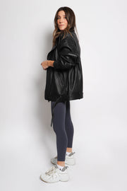 Cynthia Leather Oversized Jacket