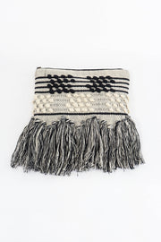 Black & White Woven Beach Clutch