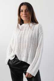 Loose Rib Knit Sweater