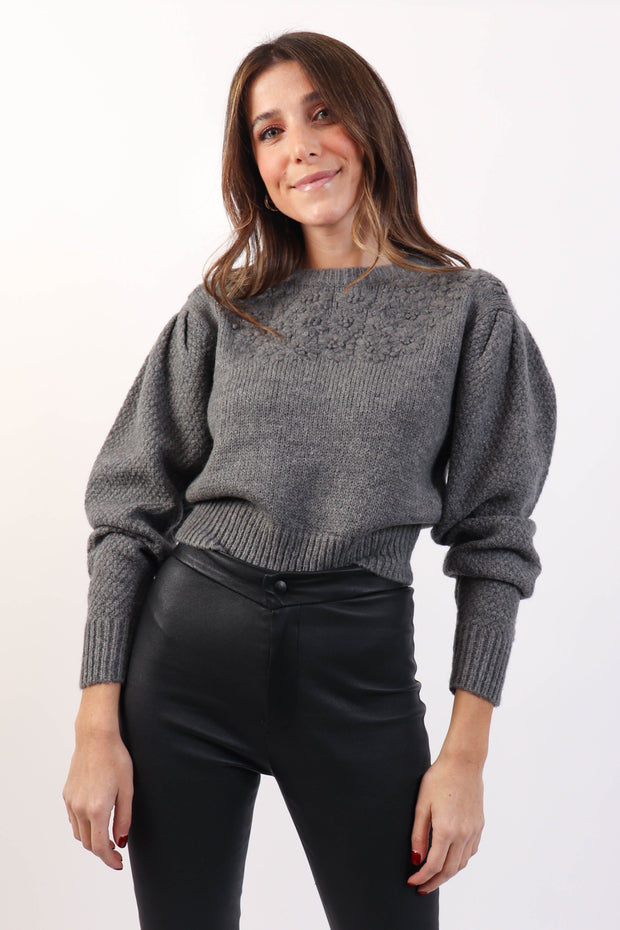 Feminine Grey Sweater