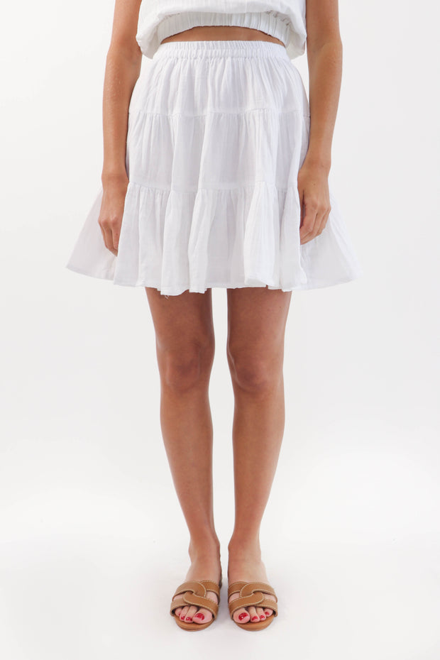 Tiered Gauze Skirt