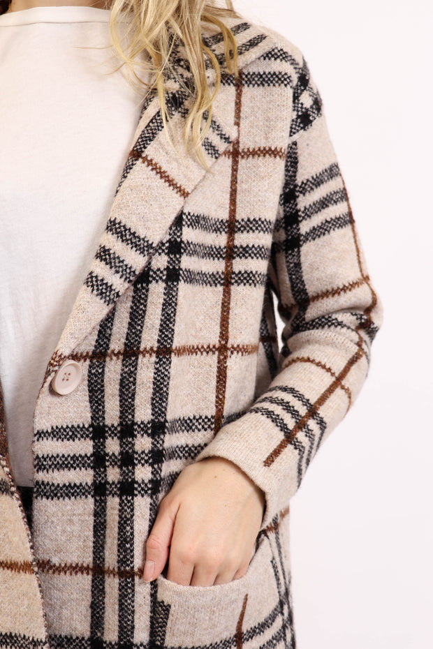 Plaid Jimmi Sweater Coat
