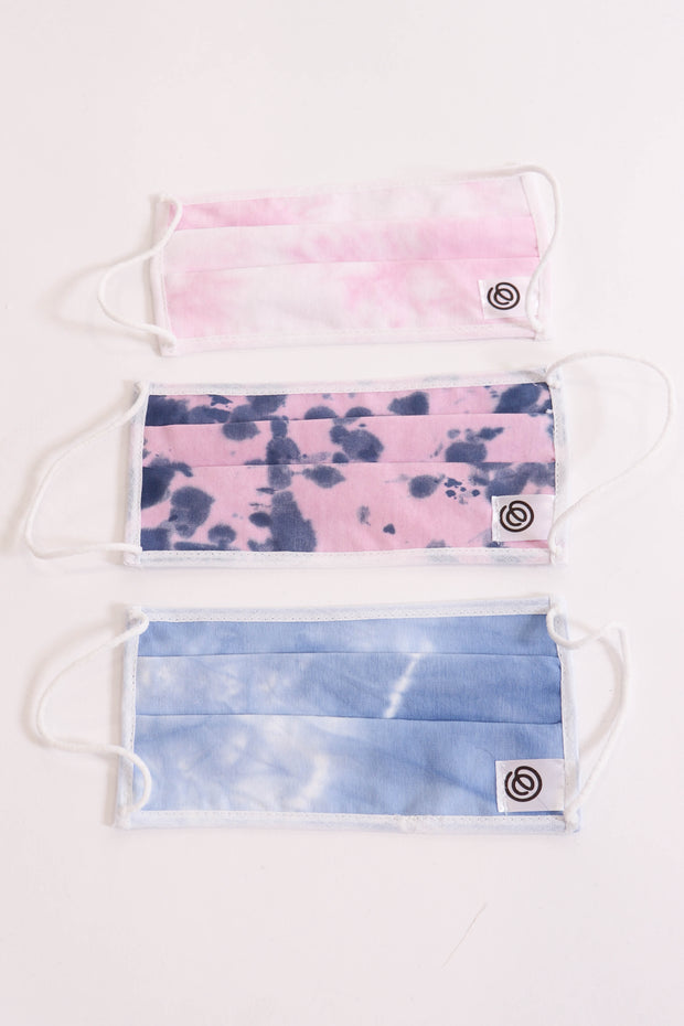 Non-Medical Grade Pastel Tie Dye Face Masks