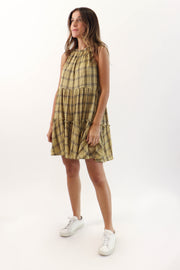Plaid Tiered Dress
