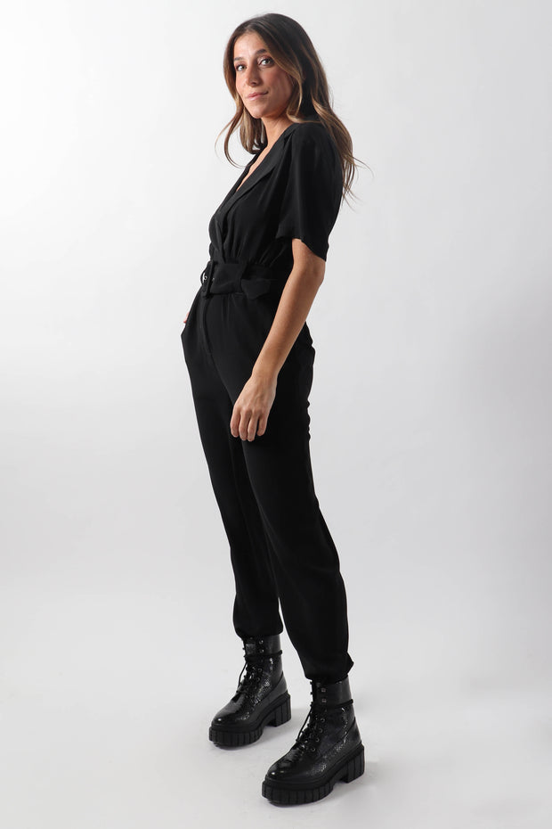 Black Belted Jumpsuit