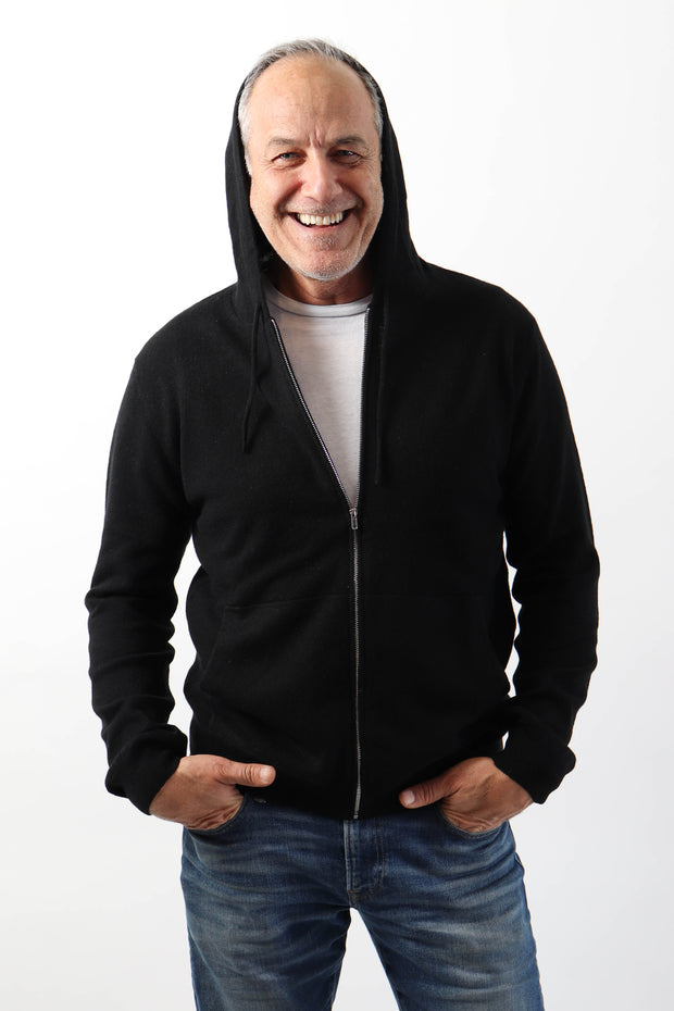 Men's Cashmere Zip-Up Hoodie