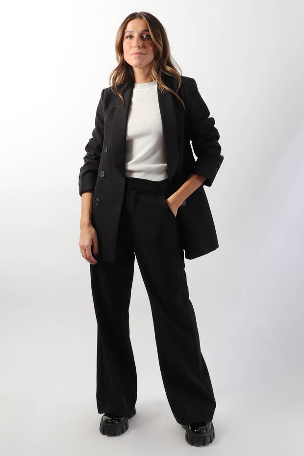 Oversized Black Suit Set