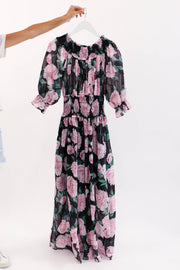 Rose Off Shoulder Maxi Dress