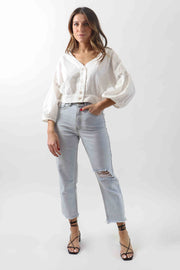 Cotton Cropped Blouse