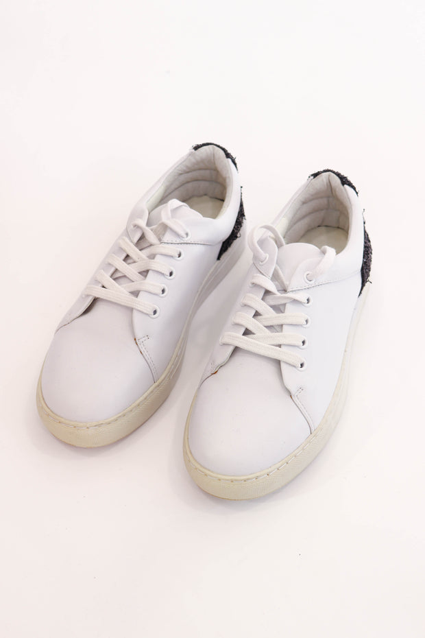 White Sneaker with Sparkle Detail