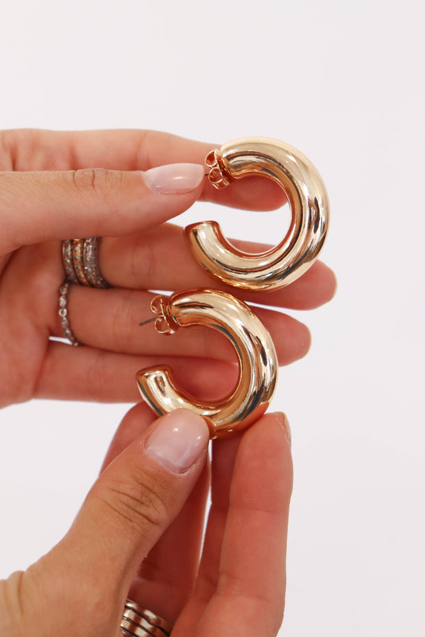 Large Thick Hoops