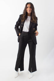 Slit-Front Suit Pants