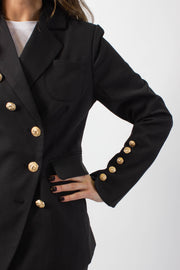 Gold-Detail Blazer