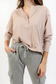 Rose Taupe Henley