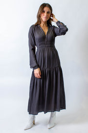Sateen Maxi Dress