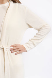 Soft Cream Ribbed Robe