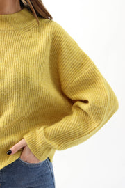 Golden Yellow Mockneck Sweater
