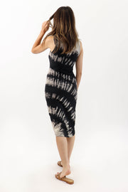 Dark Tie Dye Tank Dress
