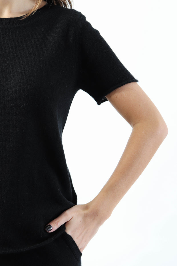 Black Cashmere Tee