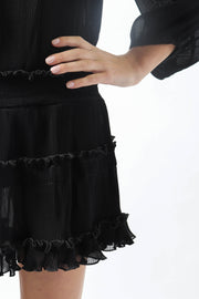 Sheer Black Cover Up Dress
