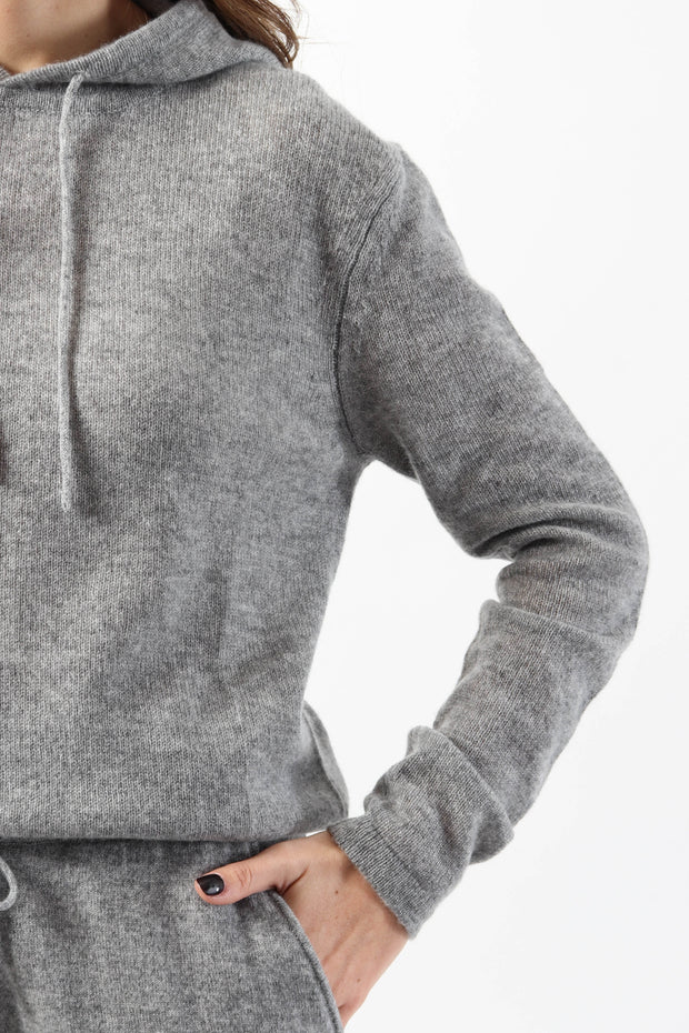 Charcoal Cashmere Hoodie