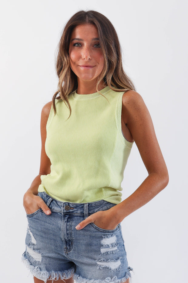 Key Lime Knit Tank