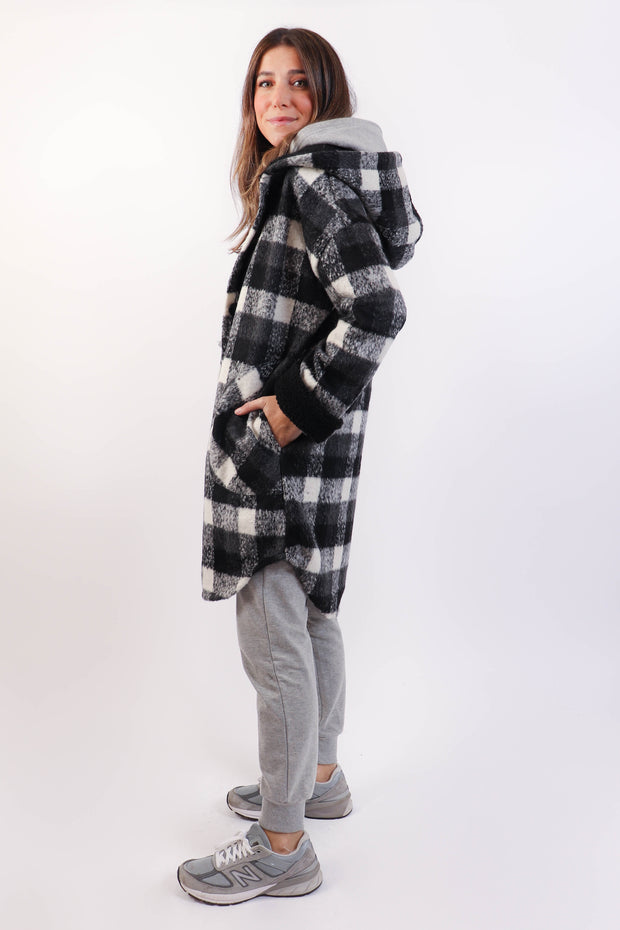 Hooded Plaid Lumber Jacket