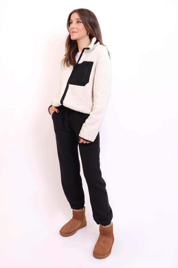 Sherpa Zip Up Sweater