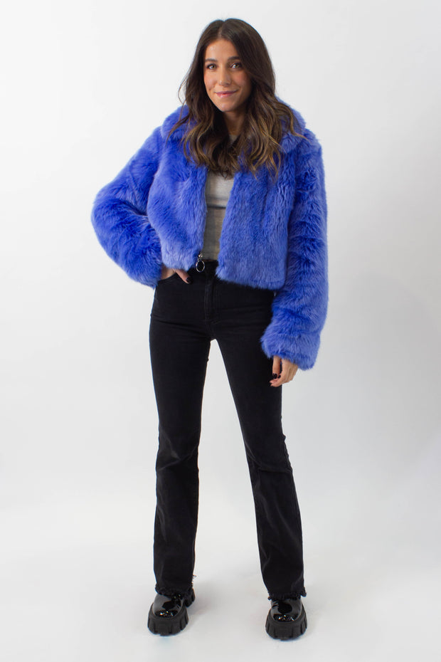 Electric Faux Fur Jacket