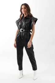 Pleather Jumpsuit