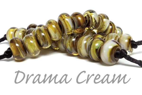 Drama Cream swirled with clear by Sandra Arduwie.