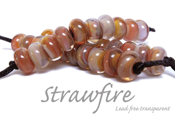 Strawfire swirled in unleaded clear by Sandra Arduwie