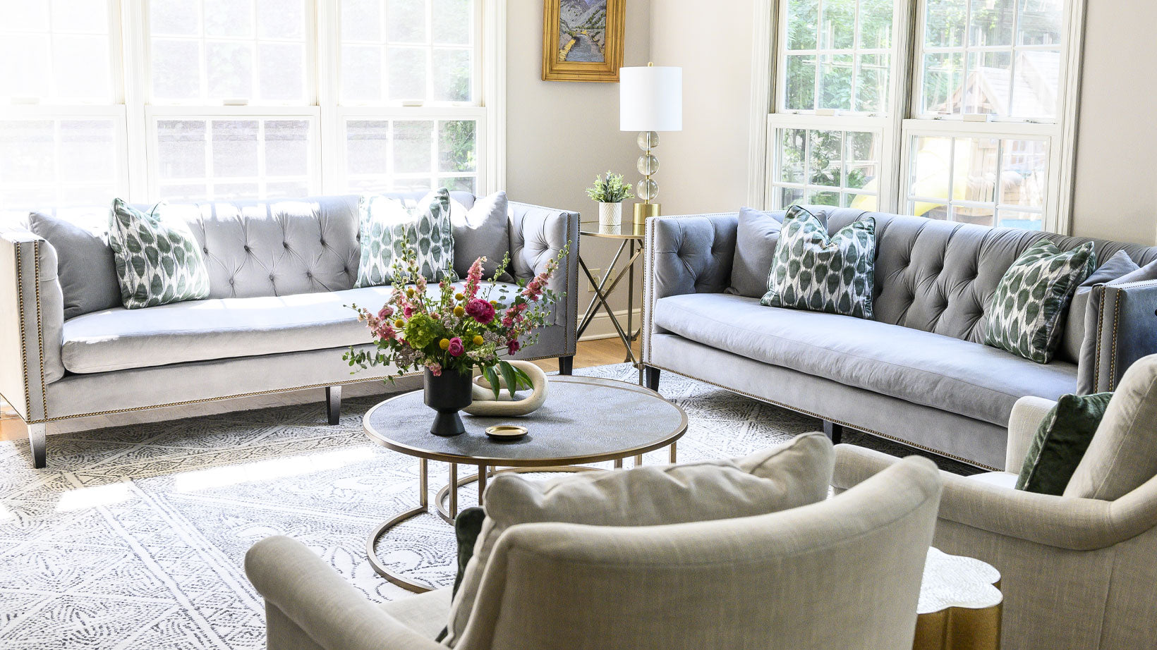 Bringing Soft Elegance to an Everyday Living Space