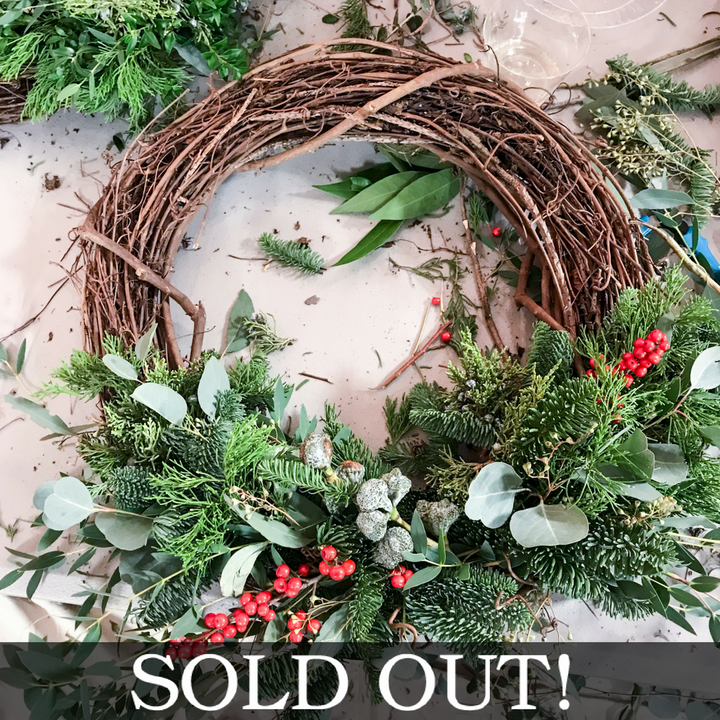Posy Holiday Wreath Workshop
