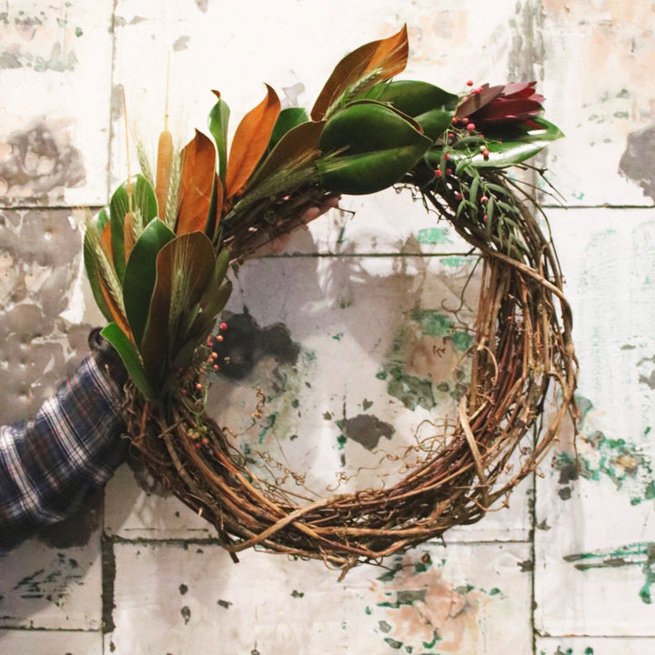 A Touch of Harvest Fall Wreath Workshop