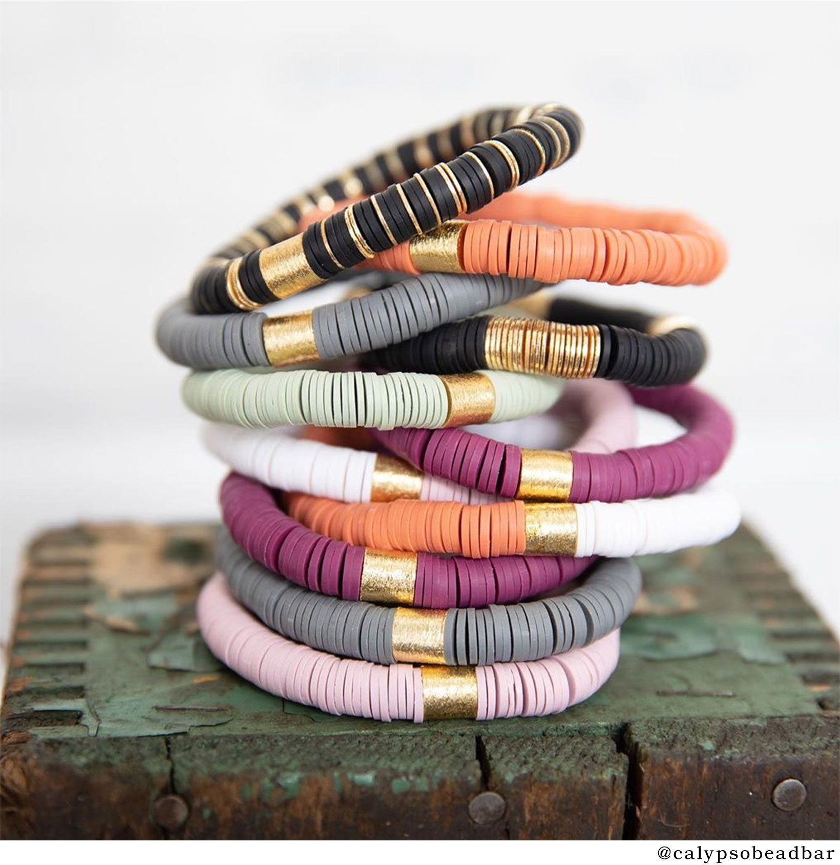 Calypso Bead Bar Stacked Bracelets
