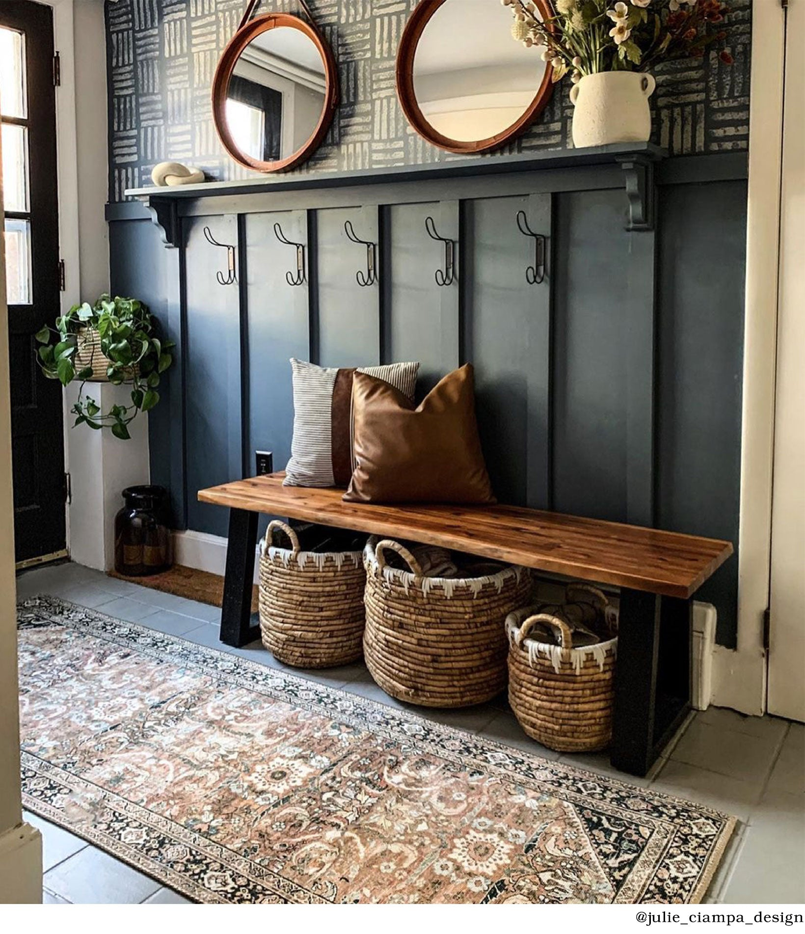 Mudroom with Weston Runner