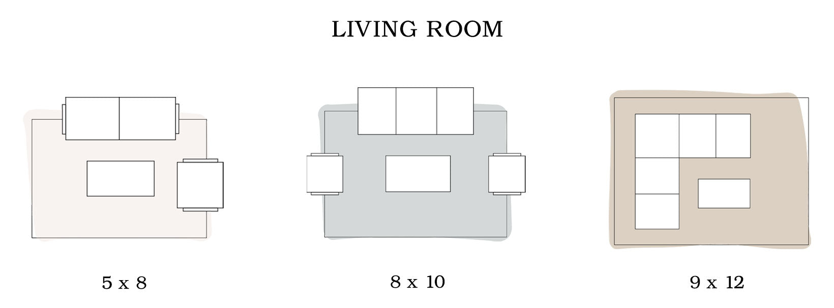 Living Room Area Rug Sizing