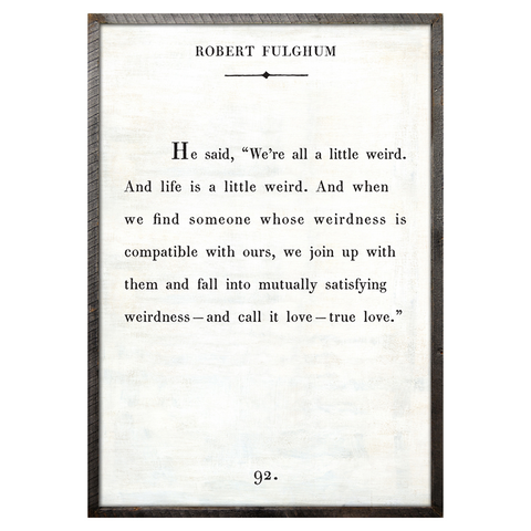 Robert Fulghum Book Print