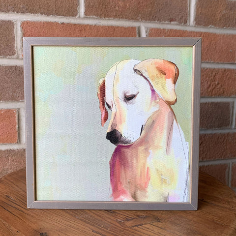 Yellow Lab Mini Framed Canvas