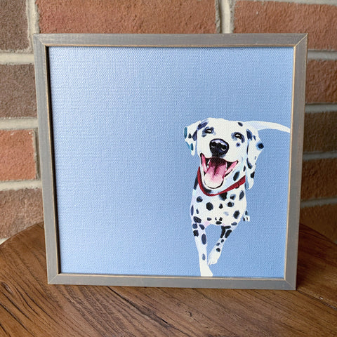 Dalmatian Mini Framed Canvas