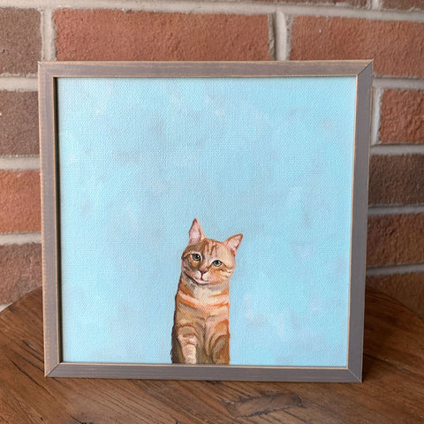 Feline Friends Mini Framed Canvas