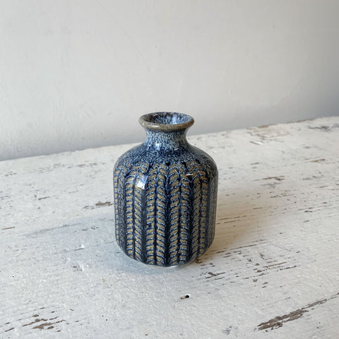 Blue Stoneware Vase - Small