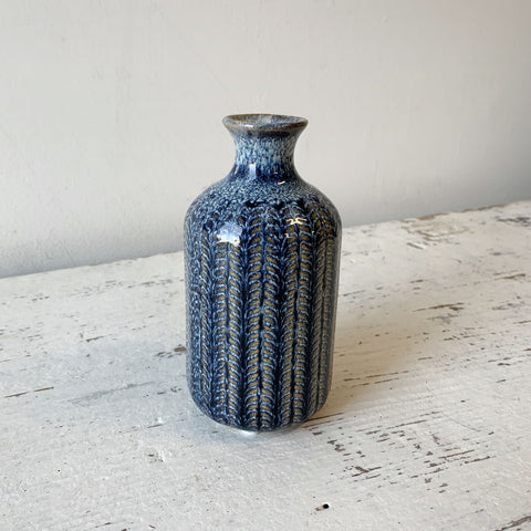 Blue Stoneware Vase - Medium