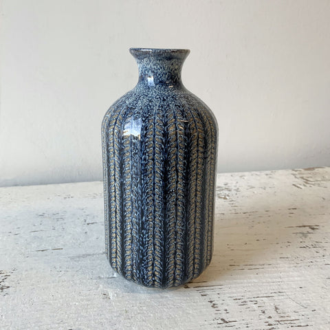Blue Stoneware Vase - Large
