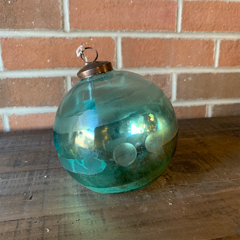 Striped Aqua Ornament - Large