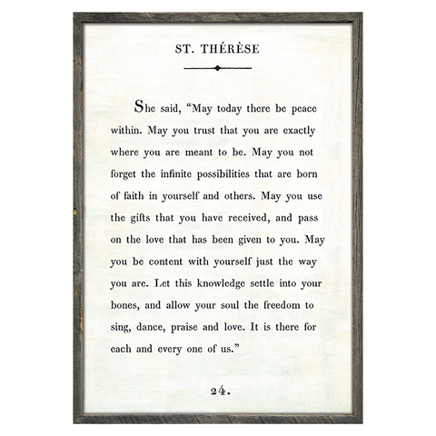 St. Therese Book Print
