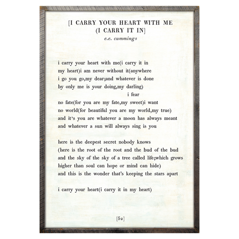 I Carry Your Heart Book Print